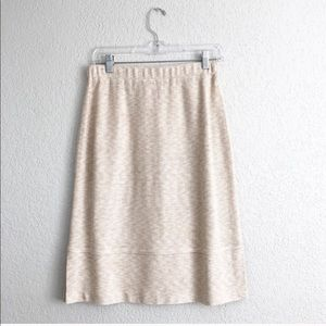 St John Collection By Marie Gray Beige Knit Skirt